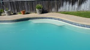 A picture of clean tile. (After) Bay Area Pool Tile Cleaning